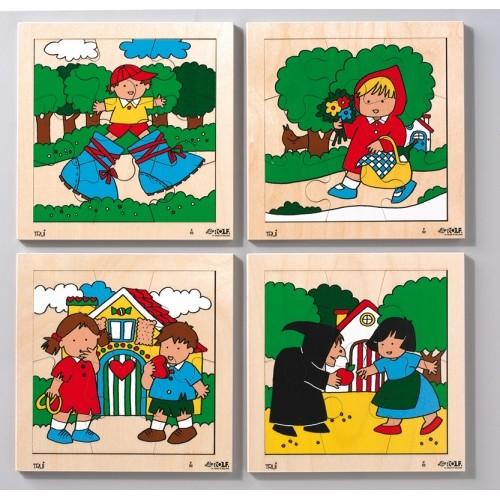 SET 4 PUZZLES CUENTOS