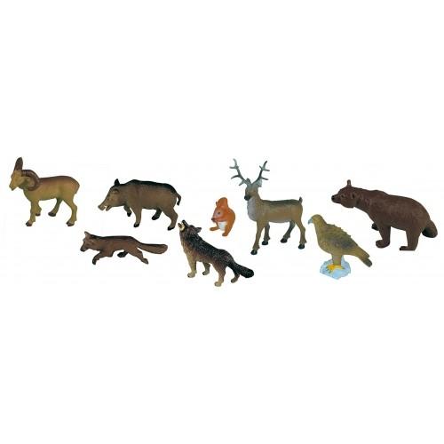 ANIMALES BOSQUE (SET 8 FIGURAS)