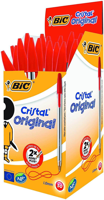 BIC Cristal Original Caja de 50 unidades COLOR ROJO