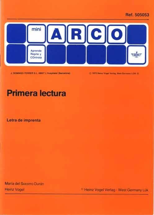 PRIMERA LECTURA (Letra molde)