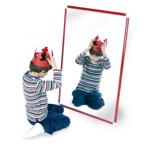 Espejo infantil marco aluminio 100 x 65 cm